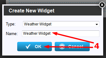 How do I add a local weather widget to my pages?